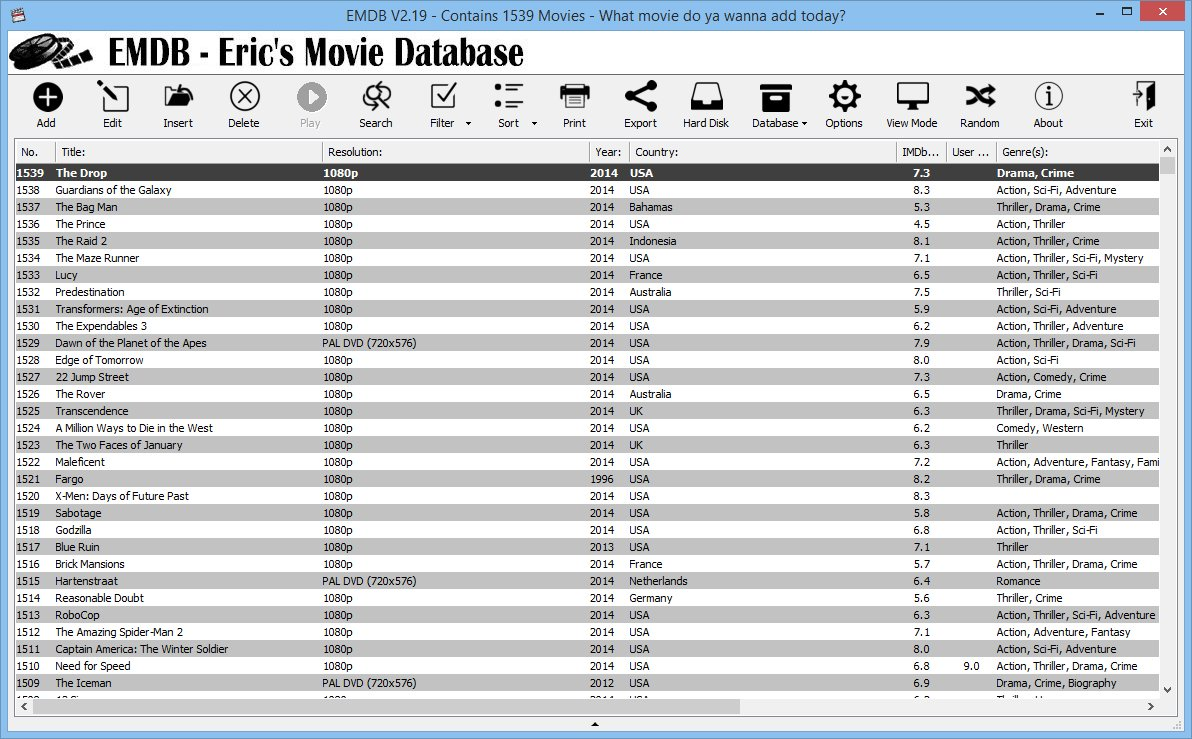 EMDB screenshot