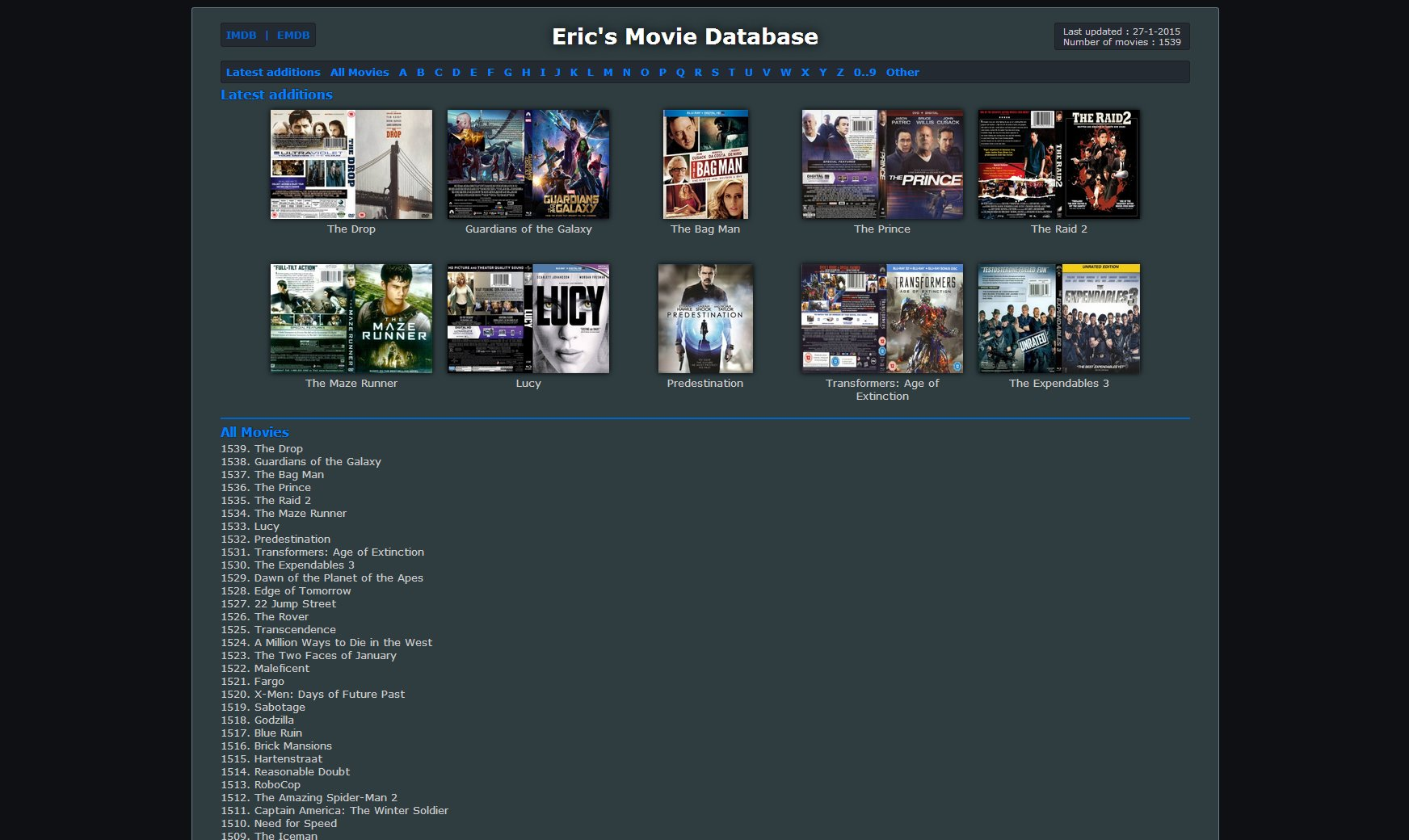 EMDB - What movie do ya wanna add today?